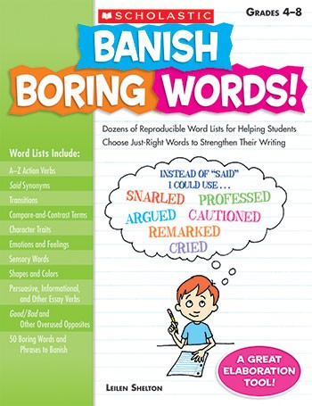 SC-9780545083034 - Banish Boring Words Gr 4-8 in Word Skills