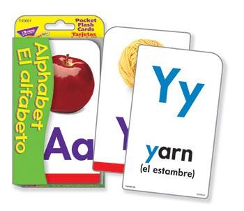 Pocket Flash Cards Alphabet El Alfabeto - T-23031 | Trend