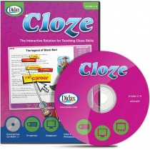 DD-211425 - Cloze Interactive Grades 2 - 4 in Language Arts