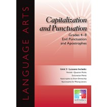 SDL8928 - End Punctuations And Apostrophes 5 Lessons Gr 4-8 in Language Arts