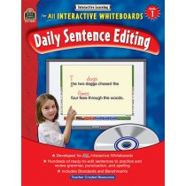 TCR3883 - Interactive Learning Gr 1 Daily Sentence Editing Bk W/Cd in Language Arts