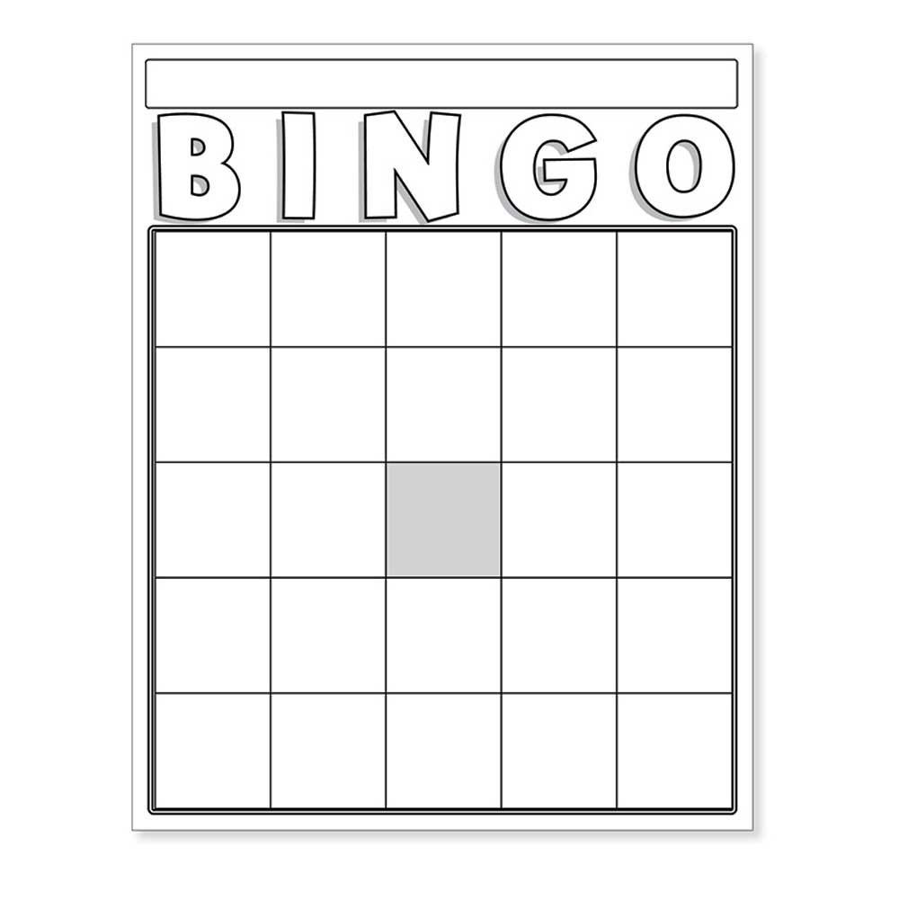 blank bingo cards white  hyg87130  hygloss products inc