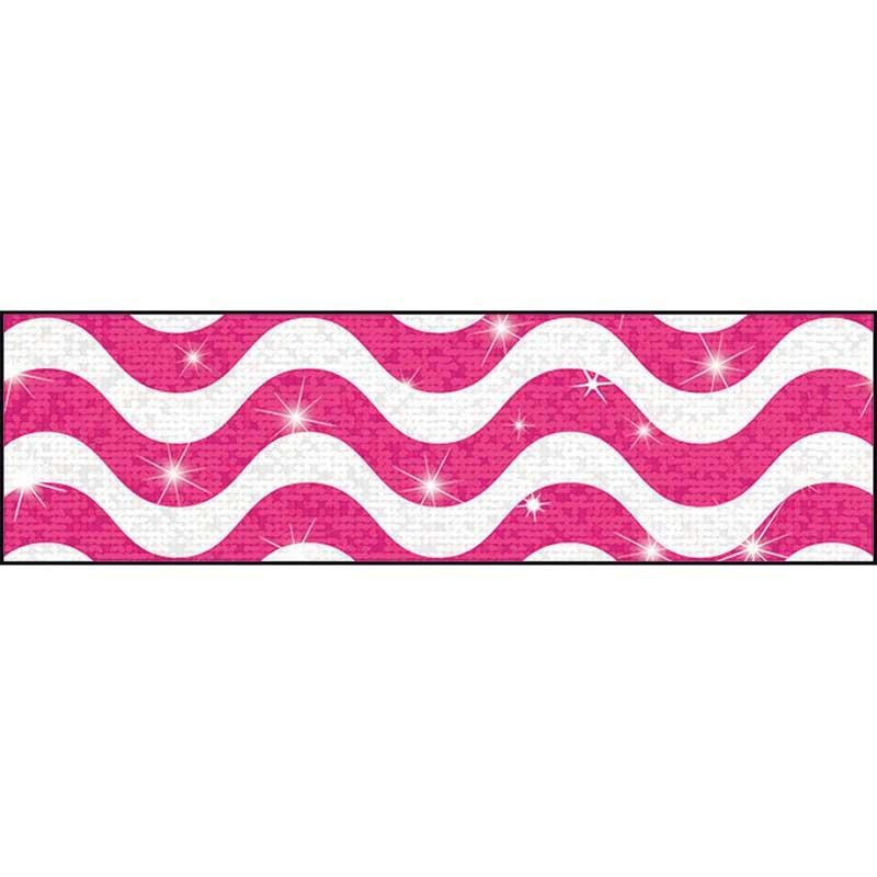 Wavy Pink Sparkle Plus Bolder Borders - T-85412 | Trend ...